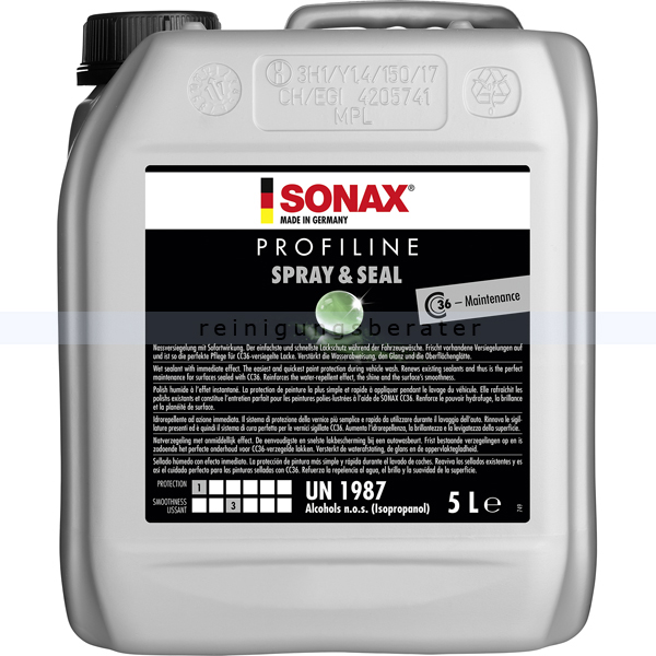 SONAX PROFILINE Spray&Seal 5 L Gebrauchsfertig und sofort anwendbar.