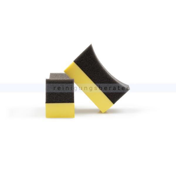 ReinigungsBerater Autoschwamm Reifenschwamm 10 Stück/Pack, mit ergonomischer Form für Reifen 520.200.500