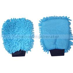 Autowaschhandschuhe Rasta 2in1 Mikrofaser blau