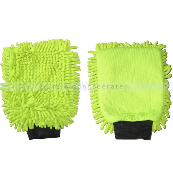 Autowaschhandschuhe Rasta 2in1 Mikrofaser grün