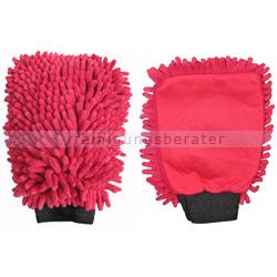 Autowaschhandschuhe Rasta 2in1 Mikrofaser rot