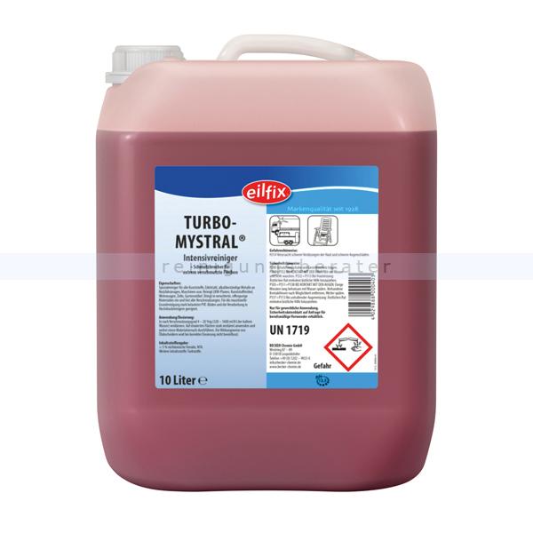 Autowaschmittel Becker Chemie Eilfix Turbo Mystral 10 L schmutzbrechender Spezialreiniger mit antistatischer Wirkung 100110-010-000