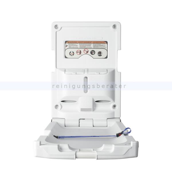 Impeco Baby Wickelstation Wickeltisch vertikales Modell weiß zusammenklappbare Wickelablage zur Wandmontage BABH88