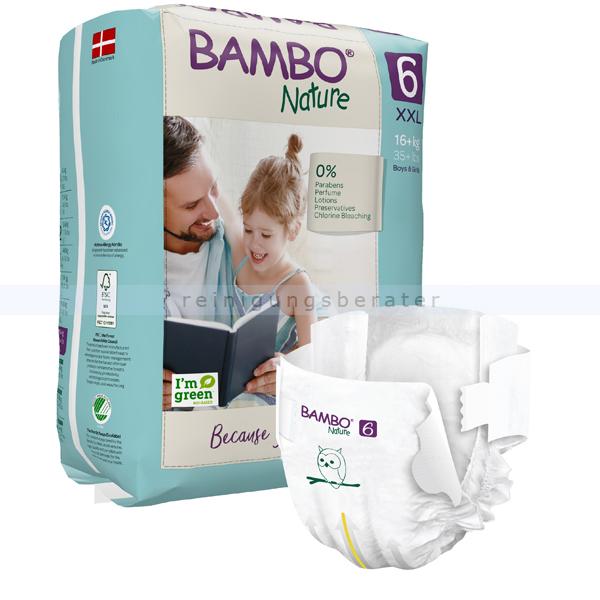 BamboNature Babywindeln Abena BAMBO Nature Windeln 16 - plus kg Größe 6 20 Stück, die neue Generation umweltfreundlicher Windeln 1000019256