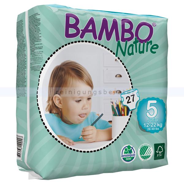 Babywindeln Abena BAMBO Nature Windeln Junior Größe 5 27 Stück, die neue Generation umweltfreundlicher Windeln 310135