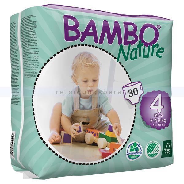 Babywindeln Abena BAMBO Nature Windeln Maxi Größe 4 30 Stück, die neue Generation umweltfreundlicher Windeln 310134