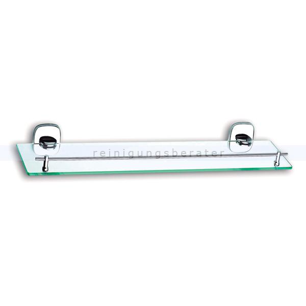 Badezimmer Glasregal Simex Bright für Handtücher zur Wandbefestigung, Zink  poliert