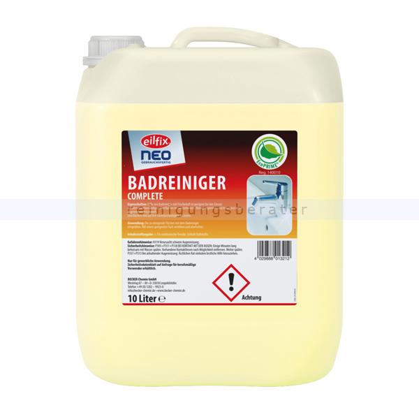 Becker Chemie Becker Eilfix NEO 10 L Kanister Badreiniger Reiniger mit Frischeduft für säurebeständige Oberflächen 100093-010-000