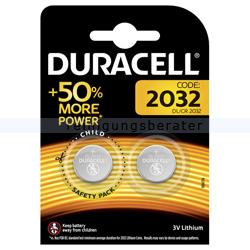 Batterien Duracell Knopfzelle DL/CR 2032