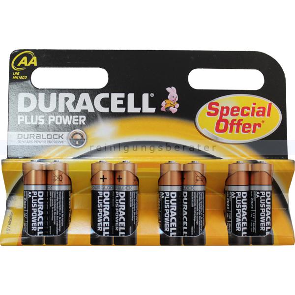 Batterien Duracell Plus Power AA Mignon MN1500/LR6, K8