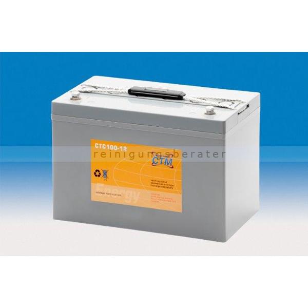 CTM GmbH CTM Blei-Gel Batterie CTC 100-12 Gewinde wartungsfrei, Spannung 12 V, Kapazität C5 80,9 Ah