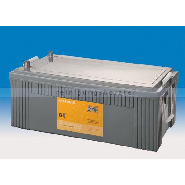 CTM GmbH CTM Blei-Gel Batterie CTC 230-12 Gewinde wartungsfrei, Spannung 12 V, Kapazität C5 216 Ah