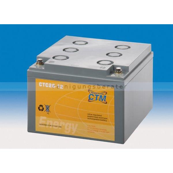 CTM GmbH CTM Blei-Gel Batterie CTC 26-12 Gewinde wartungsfrei, Spannung 12 V, Kapazität C5 22,2 Ah