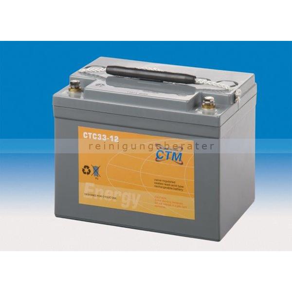 CTM GmbH CTM Blei-Gel Batterie CTC 33-12 Gewinde wartungsfrei, Spannung 12 V, Kapazität C5 28,3 Ah