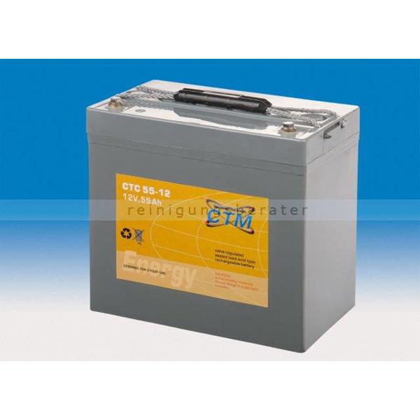 CTM GmbH CTM Blei-Gel Batterie CTC 55-12 Gewinde wartungsfrei, Spannung 12 V, Kapazität C5 49,7 Ah