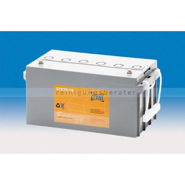 CTM GmbH CTM Blei-Gel Batterie CTC 70-12 Gewinde wartungsfrei, Spannung 12 V, Kapazität C5 57,3 Ah