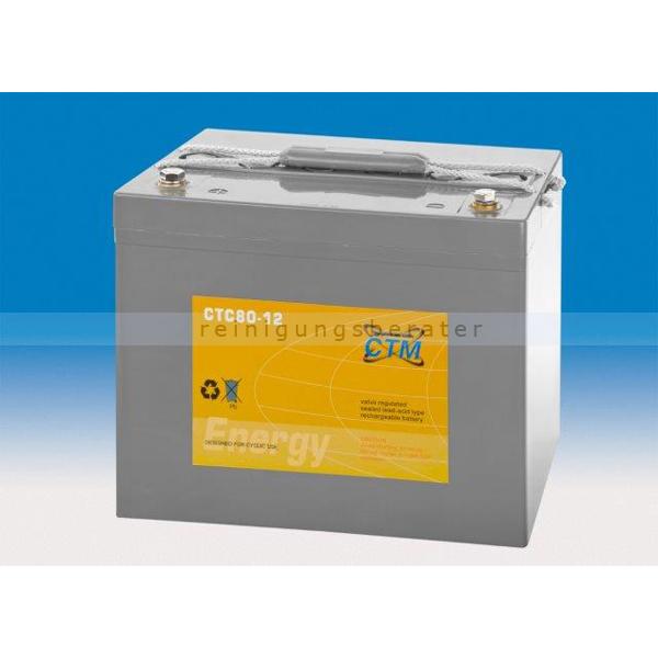 CTM GmbH CTM Blei-Gel Batterie CTC 80-12 Gewinde wartungsfrei, Spannung 12 V, Kapazität C5 71 Ah
