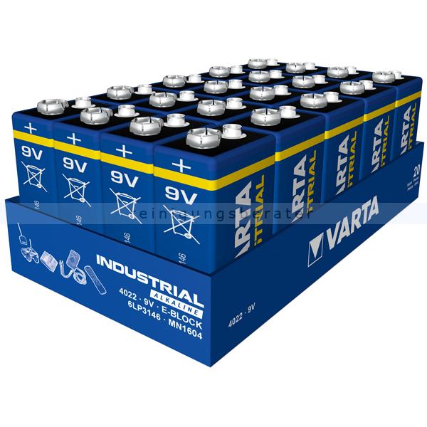 Batterien VARTA Industrial 9V Block Alkaline MN1604/6LR61