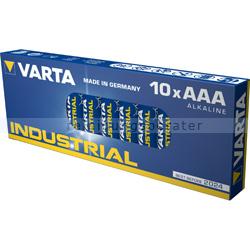 Batterien VARTA Industrial AAA Micro Alkaline MN2400/LR03