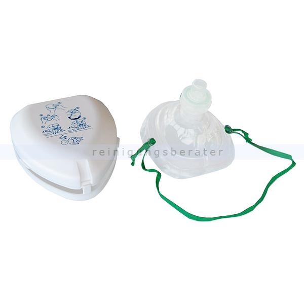 Leina Werke Beatmungshilfe Leina Taschen Beatmungsmaske weiß Einweg Ventil für die Mund zu Maske Beatmung, CE-zugelassen 43153