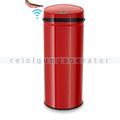 berührungsloser Sensor Mülleimer Echtwerk rot 42 L