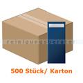 Bestecktaschen Tork mit weißer Serviette 8,5x20cm dunkelblau