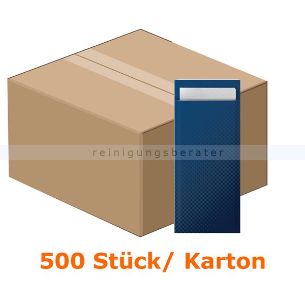 SCA Tork 474330 Bestecktaschen mit weißer Serviette 8,5x20cm 2-lagig, Bestecktasche und Serviette in einem