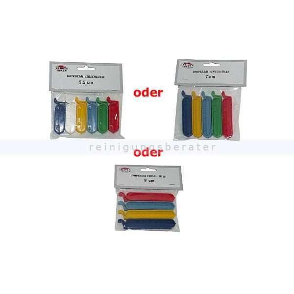 Reinex Universal Beutel Verschlüsse Gefrierbeutelverschlüsse in 3 verschiedenen Größen, je nach Verfügbarkeit 3932