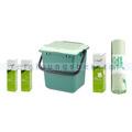 Bio Abfalleimer Natura Biomat AirBox geschlossen grün im SET