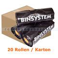 Bio Hundekotbeutel BINsystem Plastiktüten 4000 Stück schwarz