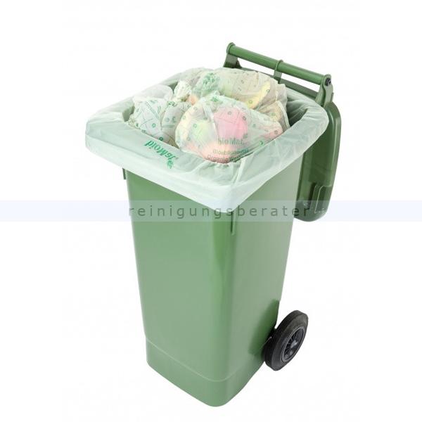 Biomüllbeutel mit Henkel Abfallbeutel kompostierbar BIOMAT® 10 L 26 St//Rolle