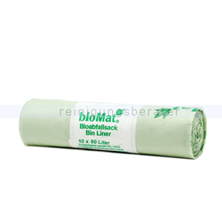 Bio Müllbeutel Natura Biomat kompostierbar 60 L