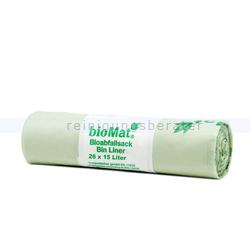 Bio Müllbeutel Natura Biomat mit Henkel, kompostierbar 15 L