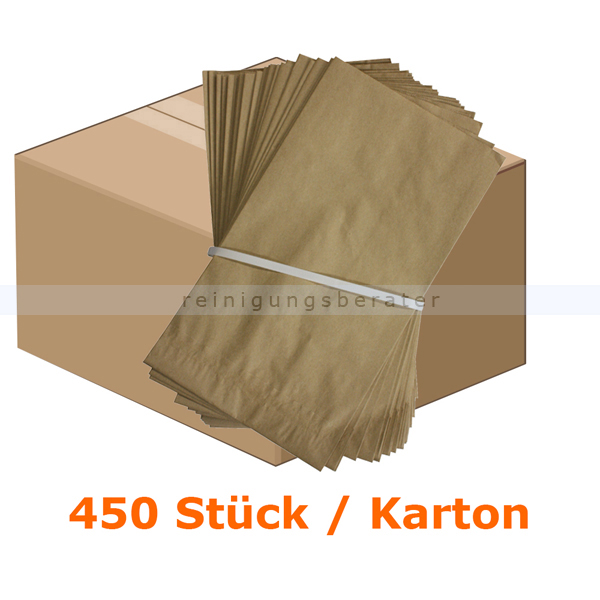 Bio Papierbeutel Natura Biomat kompostierbar 10 L KARTON 500 Stück/Karton, biologisch abbaubar und kompostierbar PS-10-50