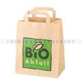 Bio Papierbeutel NaturaBiomat kompostierbar mit Henkel 8 L