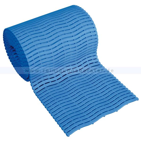 Bodenmatte Miltex Yoga Soft Step® blau 0,60 x max.15 m Bodenmatte für Nassbereiche mit Kreuz-Quer-Ablauf 13022