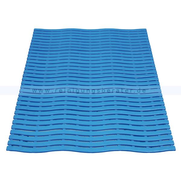 Bodenmatte Miltex Yoga Soft Step® blau 60 x 90 cm Bodenmatte für Nassbereiche mit Kreuz-Quer-Ablauf 13012