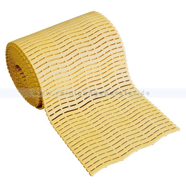 Bodenmatte Miltex Yoga Soft Step® gelb 0,60 x max.15 m Bodenmatte für Nassbereiche mit Kreuz-Quer-Ablauf 13024