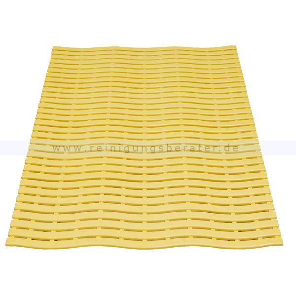 Bodenmatte Miltex Yoga Soft Step® gelb 60 x 90 cm Bodenmatte für Nassbereiche mit Kreuz-Quer-Ablauf 13014