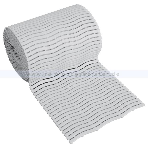 Bodenmatte Miltex Yoga Soft Step® grau 0,60 x max.15 m Bodenmatte für Nassbereiche mit Kreuz-Quer-Ablauf 13021