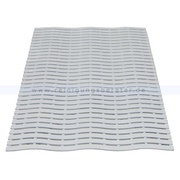 Bodenmatte Miltex Yoga Soft Step® grau 60 x 90 cm Bodenmatte für Nassbereiche mit Kreuz-Quer-Ablauf 13011