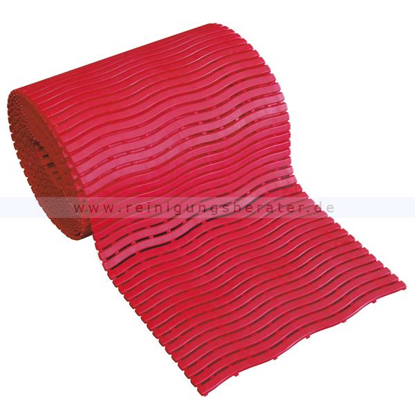Bodenmatte Miltex Yoga Soft Step® rot 0,60 x max.15 m Bodenmatte für Nassbereiche mit Kreuz-Quer-Ablauf 13023