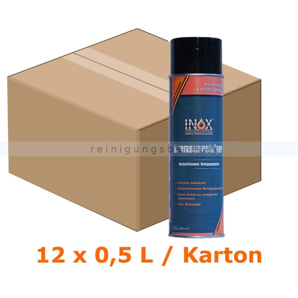 INOX Bremsreiniger 12 x 500 ml Bremsenreiniger im Karton