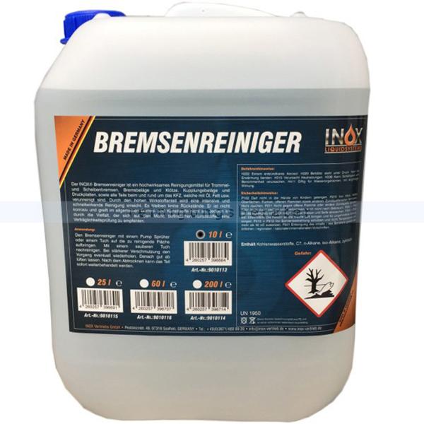 INOX Bremsreiniger Kanister 10 L Bremsenreiniger Wirkstoffe,Treibmittel sind ohne ozonschädigende Substanzen 9010113