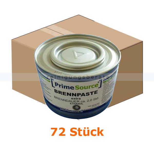 Reinigungsberater Brennpaste 2 Std extra PrimeSource 72 Stück Karton Ethanolbrennpaste für Chafing Dish Warmbehälter 321016