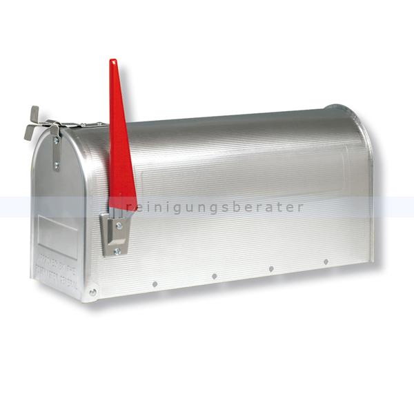 BurgWaechter Briefkasten Burg Wächter U.S. Mailbox Aluminium mit typischen Signalfähnchen 82186305