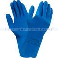 Chemikalien Schutzhandschuhe Ansell Alpha Tec blau in XL