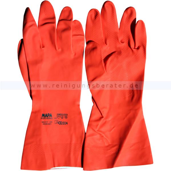 Chemikalien Schutzhandschuhe DuoNit rot L