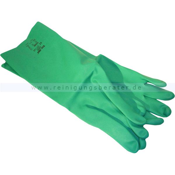 ReinigungsBerater Chemikalien Schutzhandschuhe Sol-Vex S Gr. 7, Nitrilhandschuhe mit Chemikalienschutz, 37 cm lang 37-185/7 12 Paar