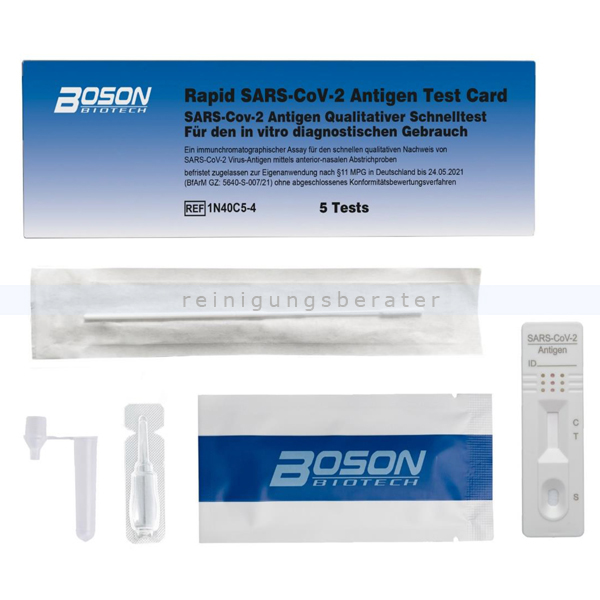 Corona Test Boson COVID-19 Antigen Schnelltest 5er Pack
